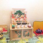 【神泉 作】奈良一刀彫のお雛様を飾りました